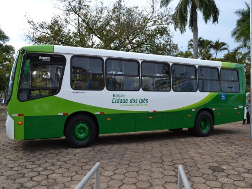 Ônibus do transporte coletivo de São Sebastião do Paraíso